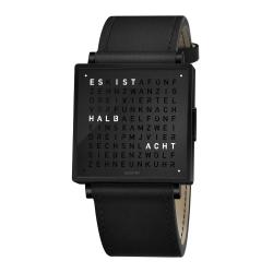 QLOCKTWO-W35-Black-Steel