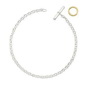 DoDo - Armband aus Silber mit Brisé aus Gelbgold
