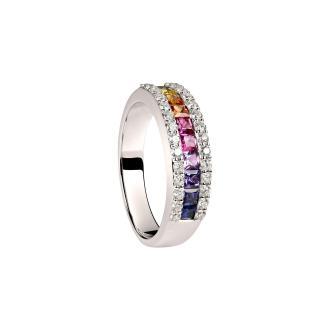 Ring Saphire fancy Rainbow