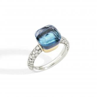 Nudo Deep Blue klassischer Ring