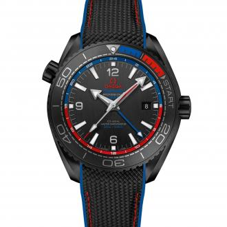 "Seamaster Planet Ocean 600 M Co-Axial Master Chronometer GMT ""ETNZ"" Deep Black"