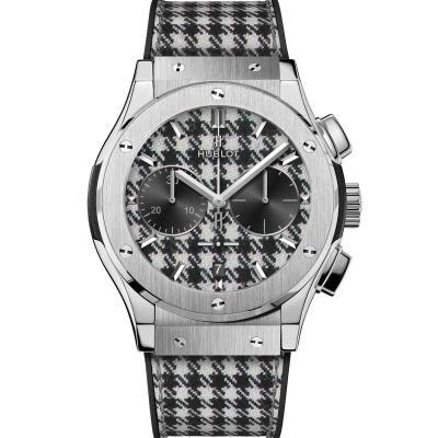 Hublot - Hublot - Classic Fusion Chronograph Italia Independent Pieds-De-Poule Titanium