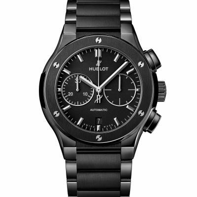 Hublot - Classic Fusion Ceramic Integrated Black Magic Bracelet Chronograph