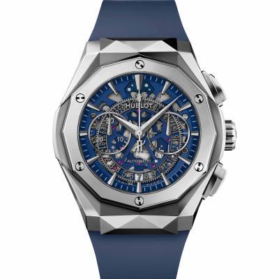 Hublot - Classic Fusion Aerofusion Chronograph Orlinski Titanium Blue
