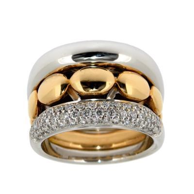 Atelier CWM - buisness Ring mit Rosegold und zarten Brillanten