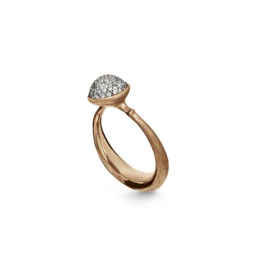Lotus Ring paviert klein