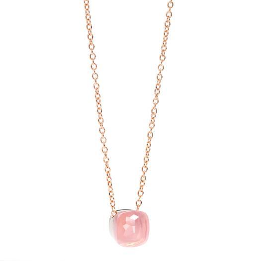 Pomellato - Nudo Rosenquarz Halskette mit Anhänger