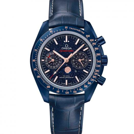 Omega - Speedmaster Moonwatch Co-Axial Master Chronometer Moonphase Chronograph Blue Side of the Moon