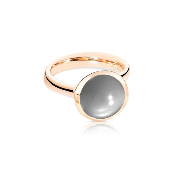 BOUTON Ring large grauer Mondstein