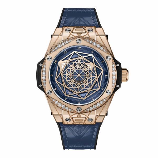 Hublot - Big Bang One Click Sang Bleu King Gold Blue Diamonds