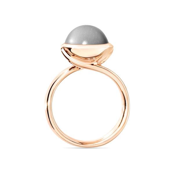 BOUTON Ring large grauer Mondstein (3)