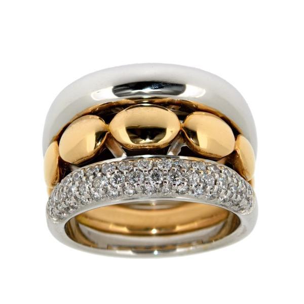 buisness Ring mit Rosegold und zarten Brillanten