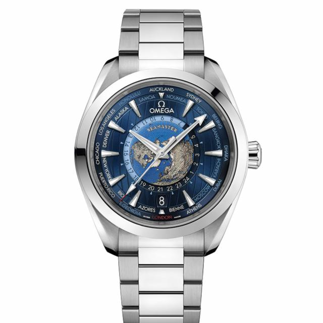 Omega - Seamaster Aqua Terra 150 M Co-Axial Master Chronometer GMT Worldtimer